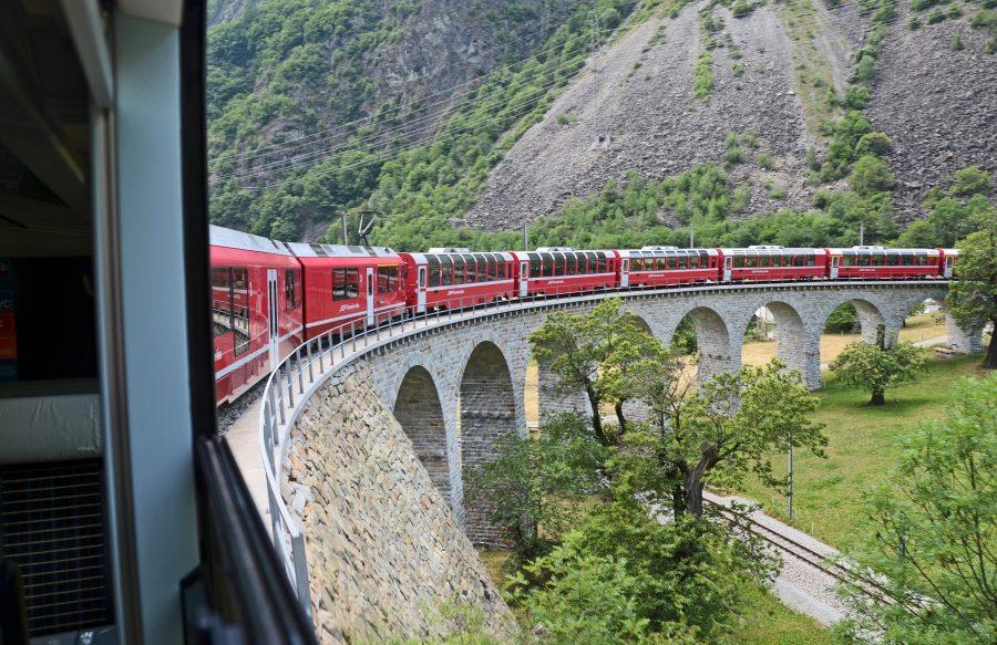 pociągiem w góry